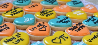 Nerdy Conversation Hearts - Not Your Everyday Cookie